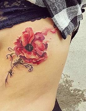 Акварельная татуировка