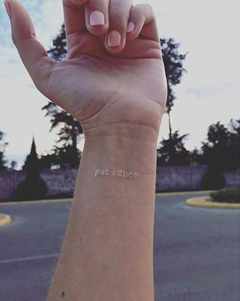 Белая татуировка