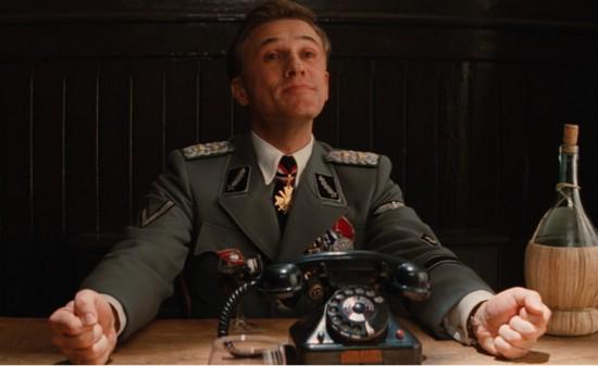 Ганс Ланда (Кристоф Вальц) в фильме «Бесславные ублюдки» (2009)