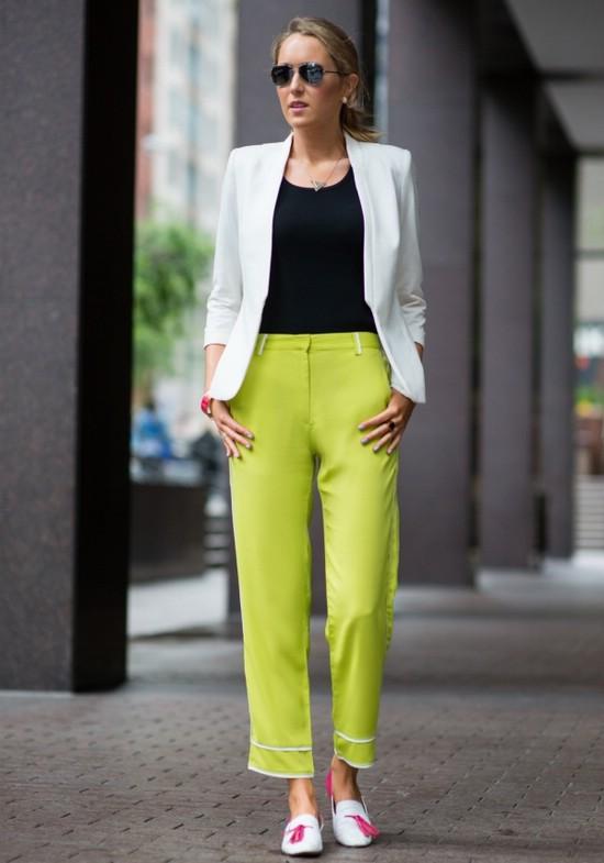 Офисный образ с брюками
