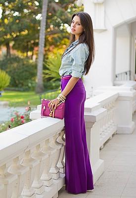 Как носить фиолетовый цвет