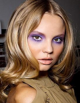 Макияж глаз в фиолетовом цвете