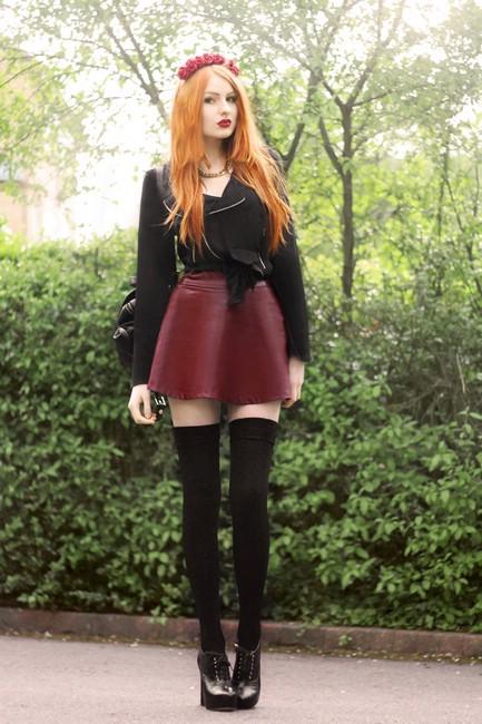 Как носить модный цвет бургунди