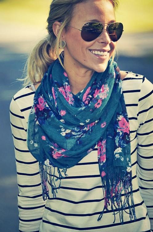 Как носить шарф этой весной