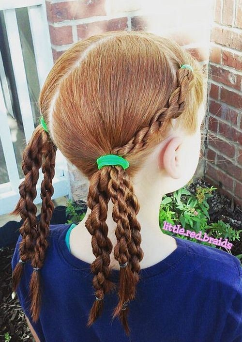 Косички и хвостики: детские причёски для девочек