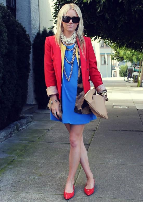 Красный, белый и синий - стильная цветовая комбинация