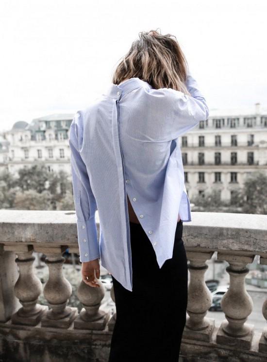 Рубашка задом наперёд
