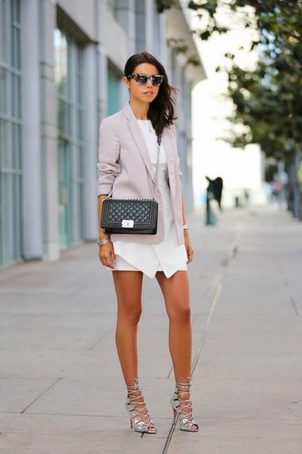 Обувь серебристого цвета