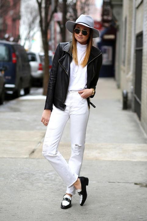 Белые брюки для осени
