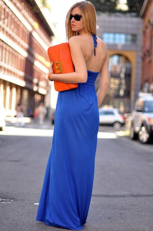 Как носить макси платья
