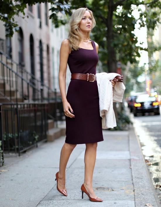 Платье-футляр для офиса