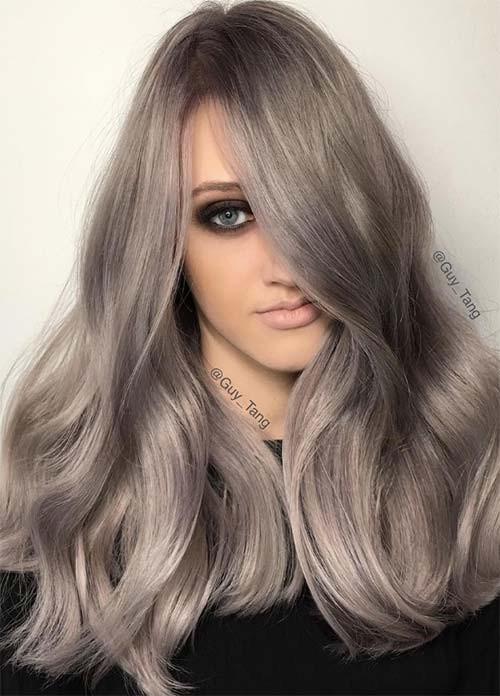 Серый оттенок волос: идеи окрашивания