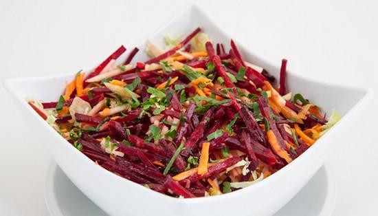 Салат из свёклы с морковью