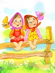 Девчушки на заборе