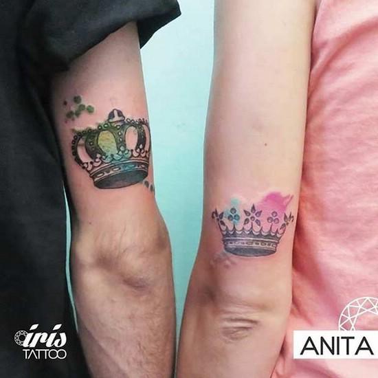 Вместе навсегда: парные татуировки «Король и королева»